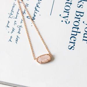 Kendra Scott Elisa Rose Gold Necklace Drusy